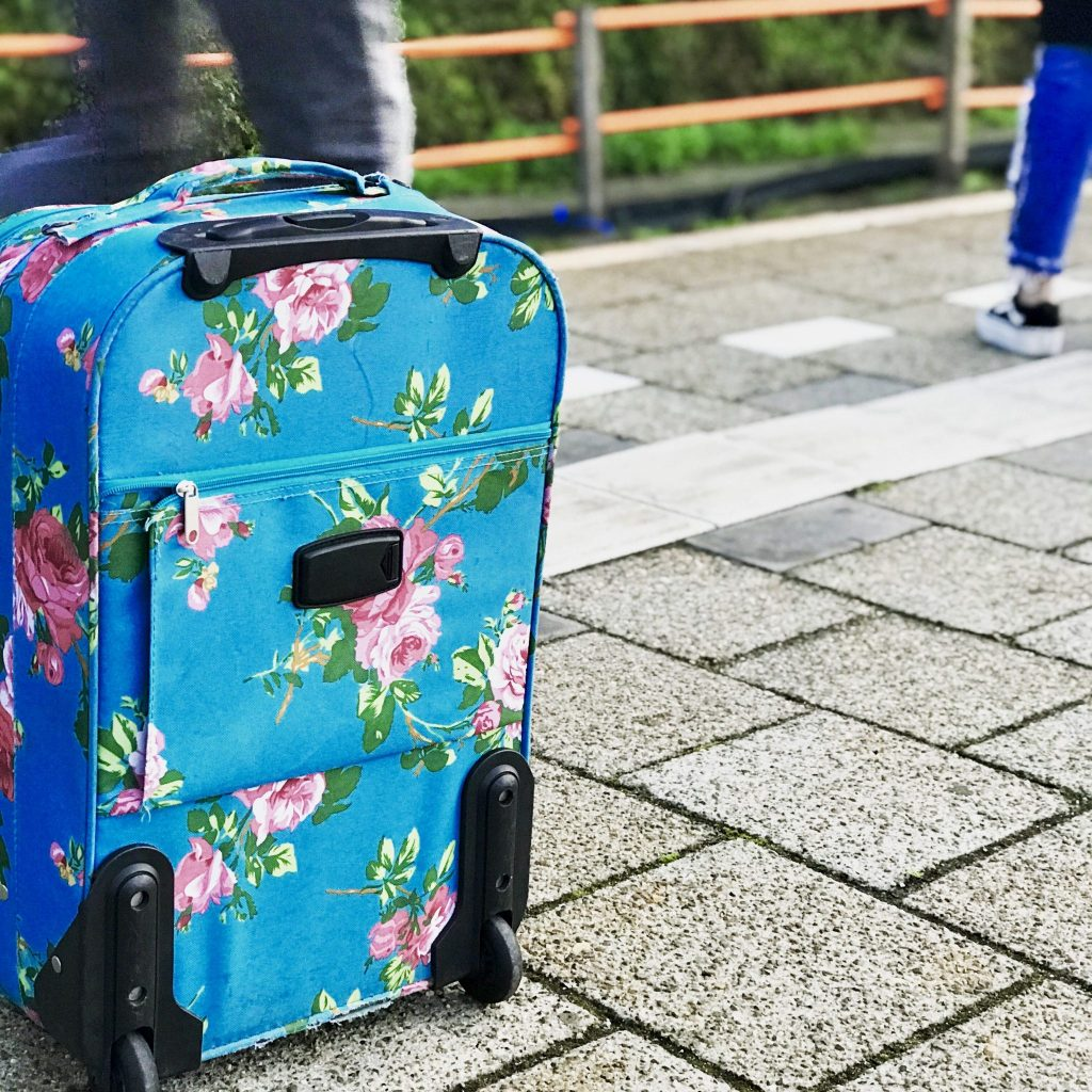 Met mijn koffertje op weg naar Tunesie