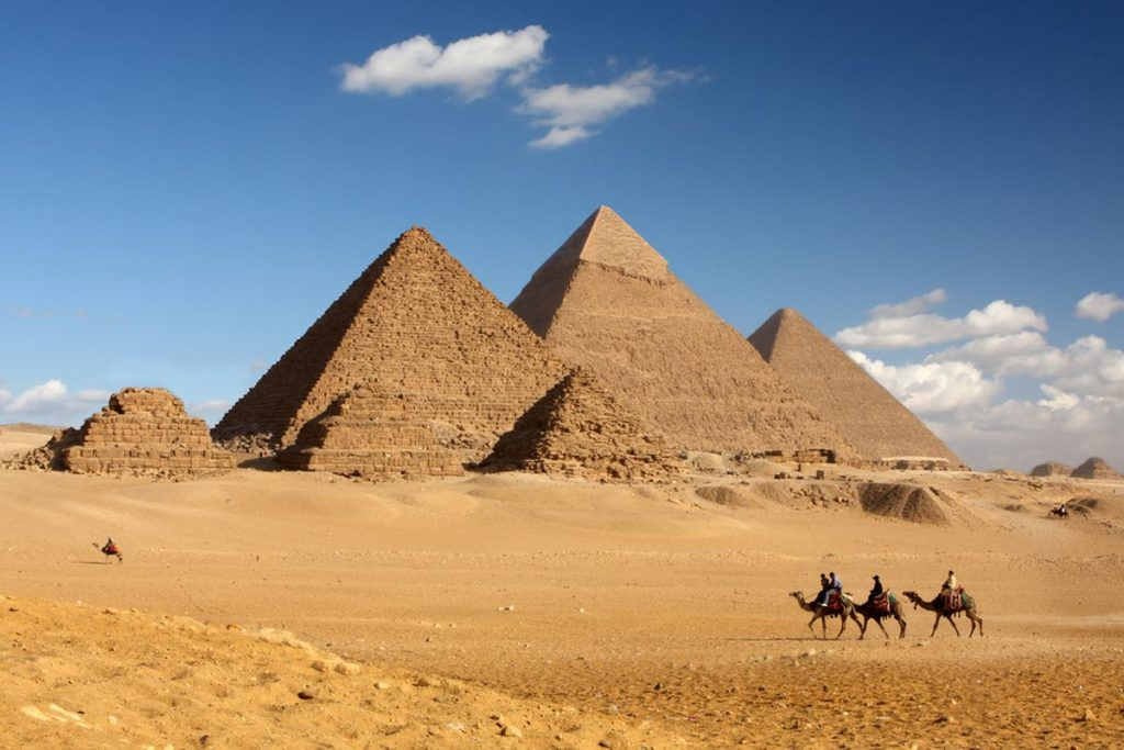 De majestueuze piramides in Egypte