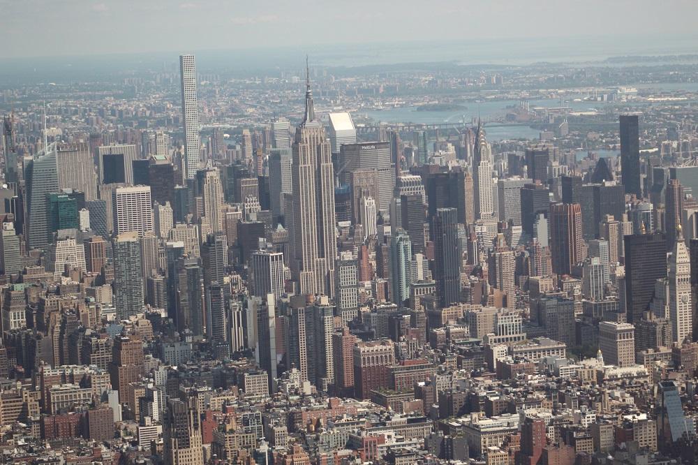 Uitzicht vanuit de helikopter