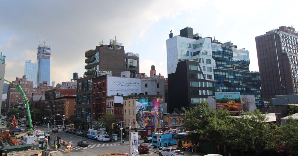 Uitzicht Manhattan vanaf High Line Park