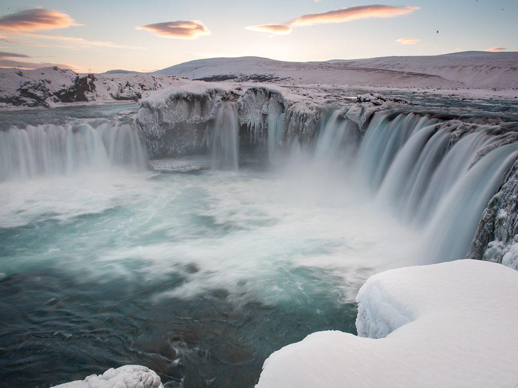 Godafoss waterval in Noord-IJsland